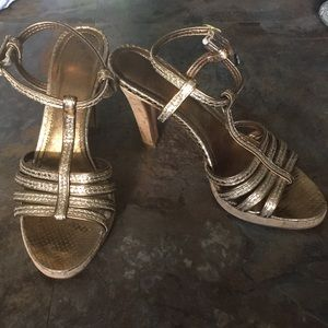 Coach hold cork heels size 6.5